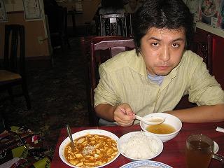 麻婆豆腐ランチセット。ある時間帯になると麻婆豆腐単品と同じ料金に(笑)