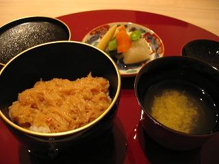 自家製XO醤丼・お吸い物・エチュベ