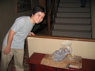 細川護煕さん(元首相)が作られた、重々しくも愛らしい狛犬(獅子)