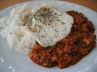 朝の麻婆豆腐