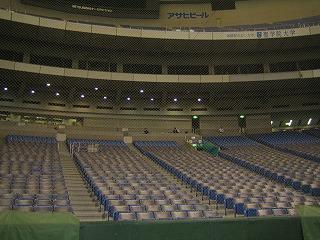 誰もいない東京ドーム