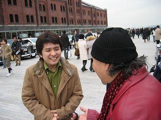 中島社長と談笑