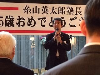 石原慎太郎さんの息子さんで国会議員をつとめる石原宏高さんのお姿も