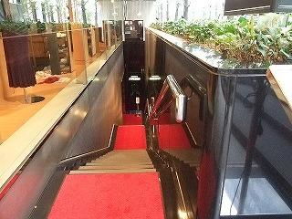 入口へ向かう長い階段