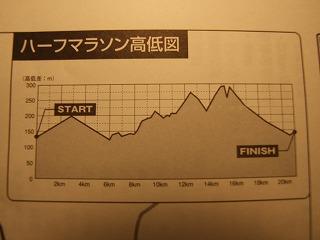 コースの高低図