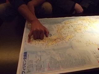 来月のフィリピン航海を示す
