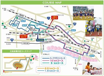 熊谷さくらマラソン大会コースマップ