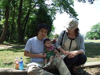 家族の集合写真。我らアクティブ家族(笑)