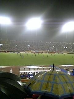 試合中のスタジアム