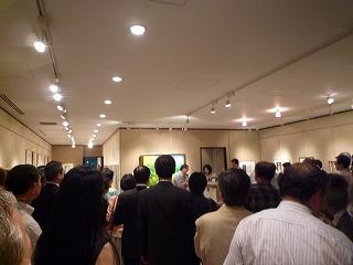 大混雑の中での、山本さんのスピーチ