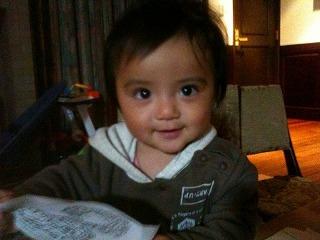 最近の我が息子、生後10ヶ月です