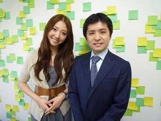 菅野広恵さんとサムスル応接室にて