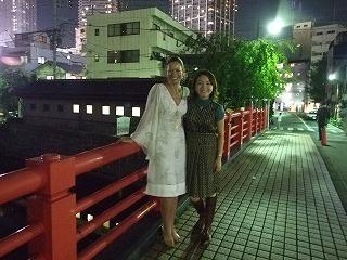 左がTracyさん(2年半前に、妻と東京観光をした時に)