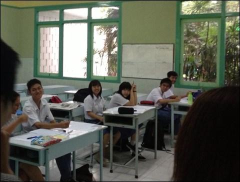 インドネシアの日本語教育 日本語クラスの教室の様子