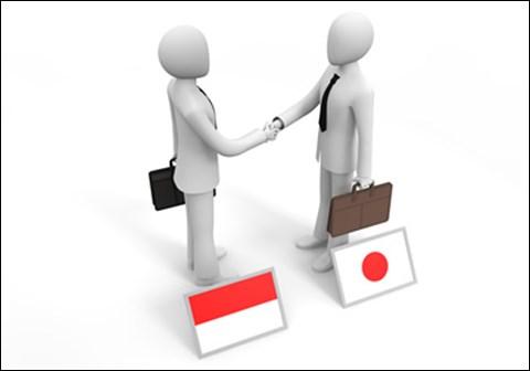 インドネシアと日本/握手するビジネスマン_フリーイラストbusiness-peoplescom