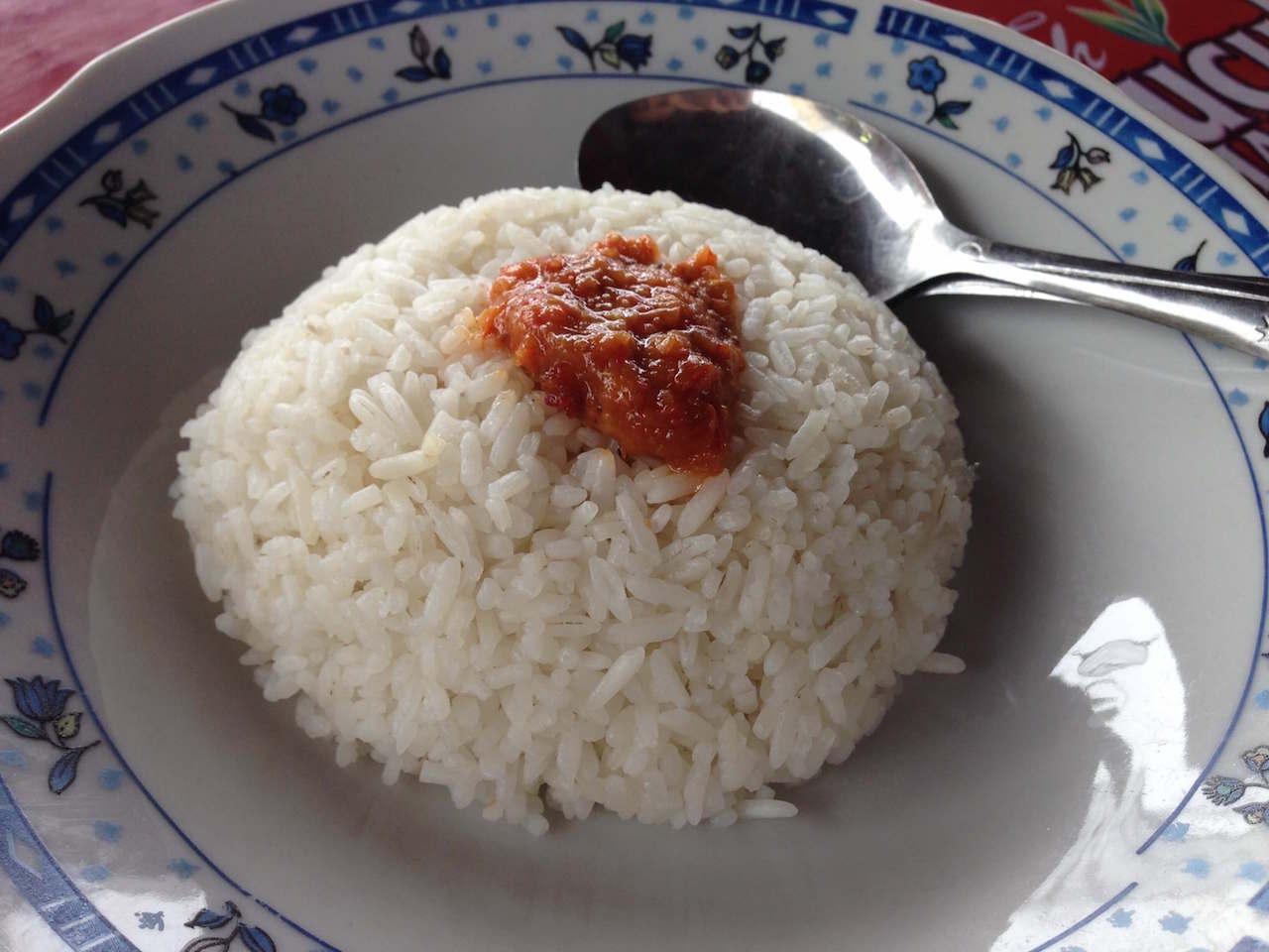 東ジャワの高速道サービスエリアで味わう「ソト・アヤム」