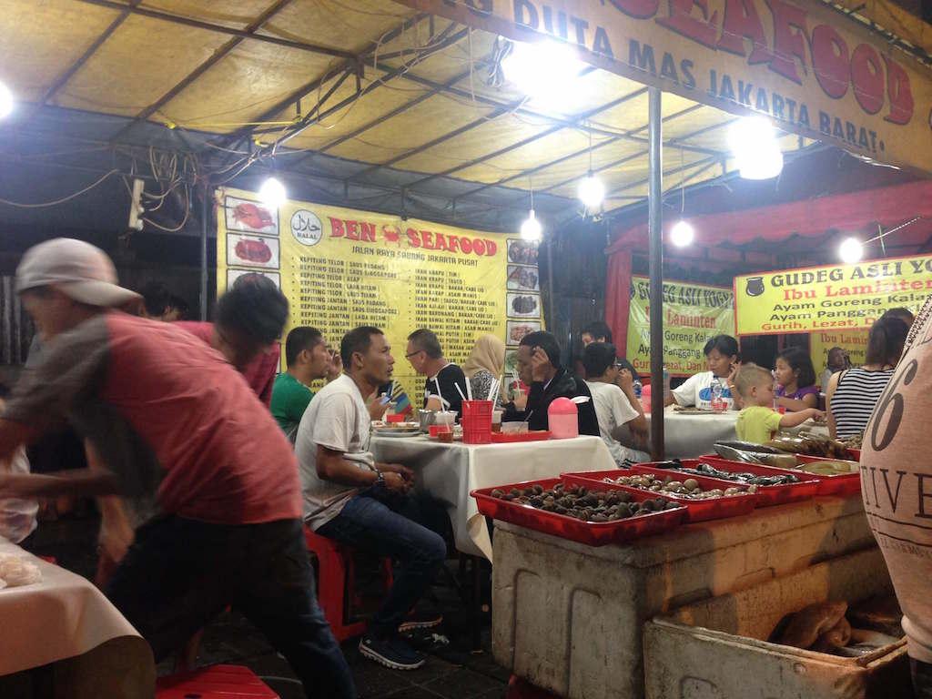 ジャカルタ屋台 Ben Seafood Sabang