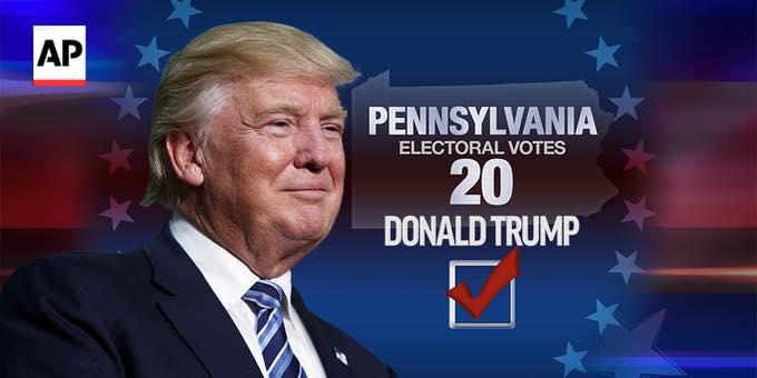 当選することになったトランプ新大統領(facebookページより)
