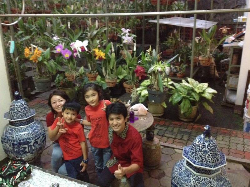 インドネシアの中華系のお住まいで、旧正月のお祝いを静かに味わう