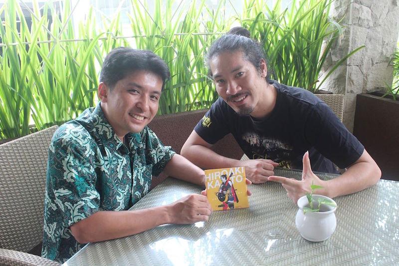 加藤ひろあきさんと、東ジャワのマランにて
