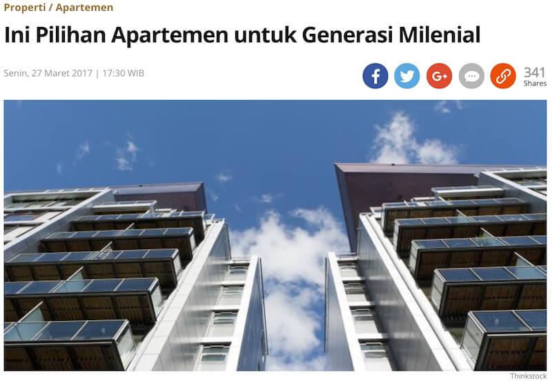 Kompasの記事「ミレニアル世代の若者のためのマンションはこれだ」