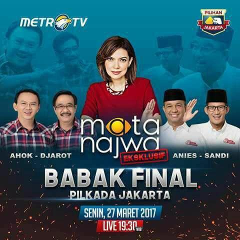 ジャカルタ州知事選挙のテレビ討論が開催される告知