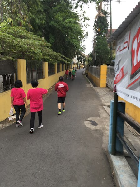 東ジャワの教会が主催するマラソンイベントに参加して