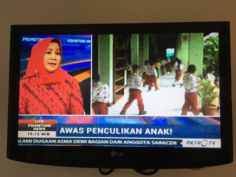 インドネシアで流れていた子供の誘拐未遂のニュース
