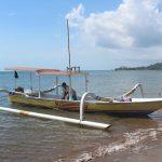 ロンボックの本島から「ギリ・グデ」島までのボートの移動は最高!