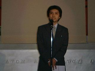 サムスル創業1年目、業界のパーティーでスピーチした時の秘蔵写真(1999年)