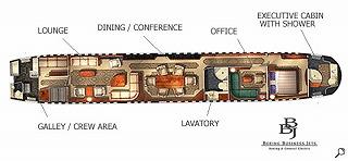 ビジネスジェット プライベートジェット Boeing BBJ 見取り図