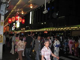 祇園祭 先斗町近辺の夜