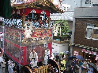 祇園祭 山鉾巡行 鉾の全貌が見えてきました