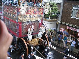 祇園祭 山鉾巡行 音頭取のおじいさん2名がかっこいい