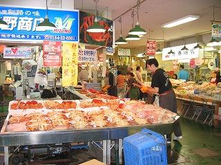 釧路 和商市場 魅力的な海産物