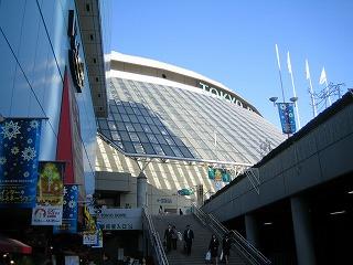 学生の来場を心待ちにする東京ドーム