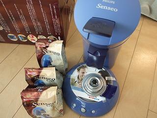 コーヒーメーカーと、専用のコーヒーポッド
