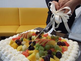 幸せのケーキカット