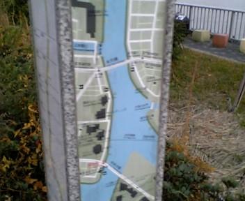 川沿いには、ランナー向け?に、地図が整備されていました