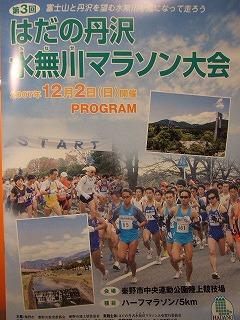 はだの丹沢水無川マラソン大会 パンフレット
