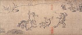 鳥獣人物戯画絵巻(甲巻)で有名な部分