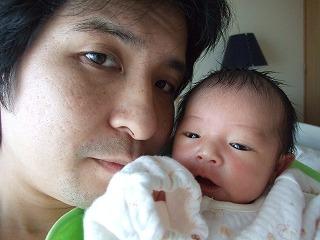 生後6日目の娘、理心