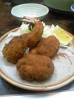 カツと海老フライ むらた はまぐり鍋 神田岩本町