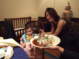 某社長が開催してくれた生誕祝いの食事会で、食事の真似事