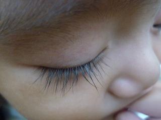 生後8ヶ月,子供,長い,まつげ