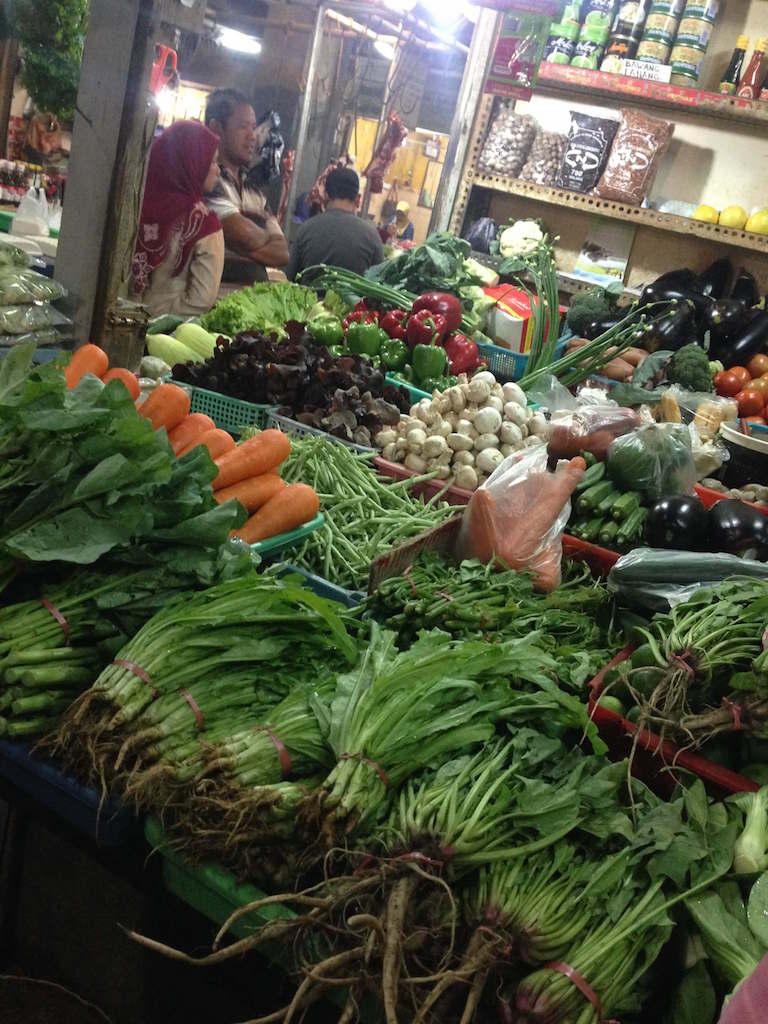 インドネシア、東ジャワ・マランの市場