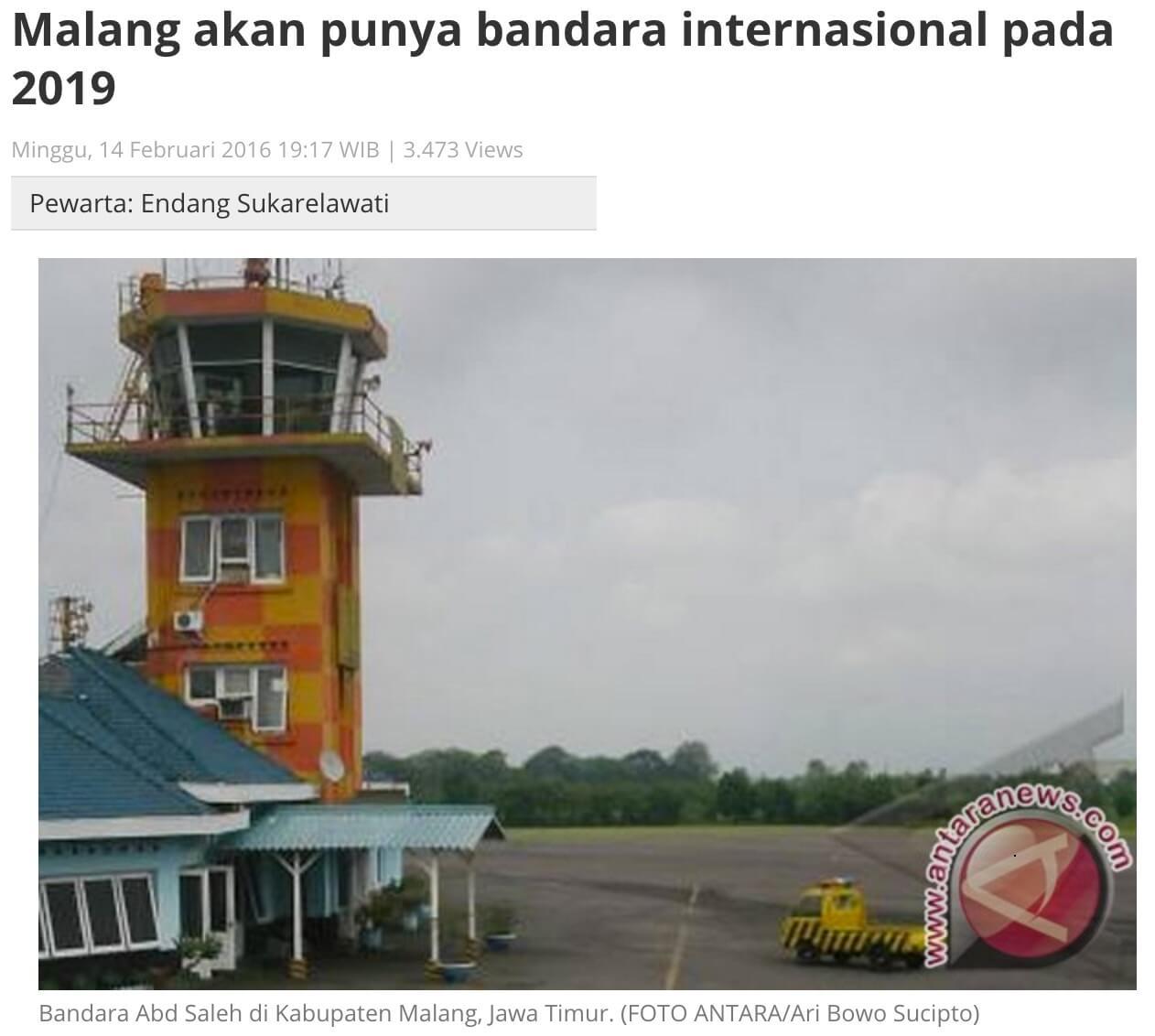 マラン 空港 インドネシア 記事