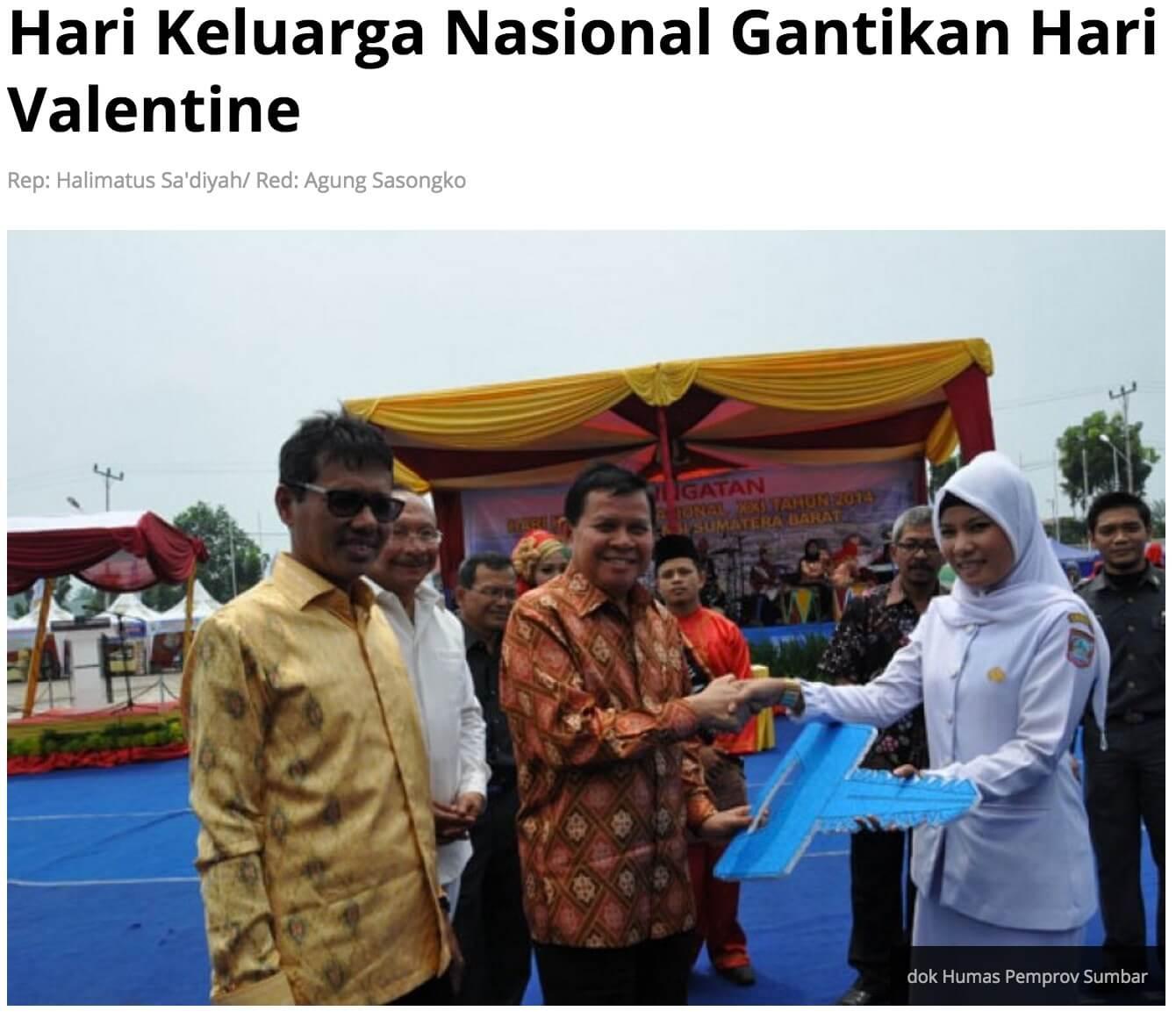 インドネシアのバレンタイン 禁止 家族の日 Republika Online
