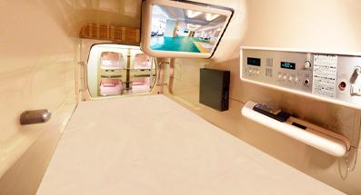 「グリーンプラザ新宿」 カプセルの内部は意外と快適