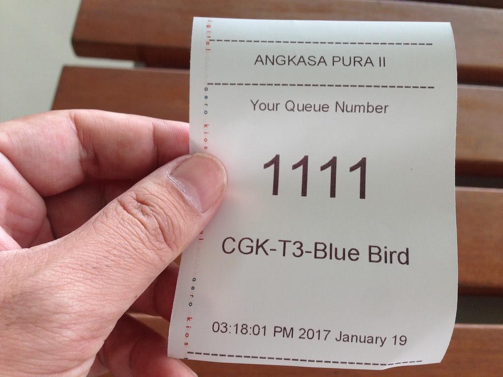 ジャカルタ「第3ターミナル」のタクシー乗り場